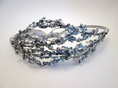 Sequin Icicle Tiara - Winter Bridal headpiece - Wedding - Ice Crown Princess - Prom - Glinda - Oz Inspired. $ 40.00, via Etsy.