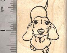 Dachshund Rubber Stamp Wiener Dog Wood by Rubberhedgehog Dachshund Tattoo, Dachshund Breed, Dachshund Art, Long Haired Dachshund, Dachshund Drawing, Daschund, Corgi Tattoo, Lion Tattoo, Dog Tattoos