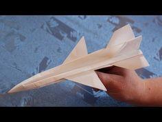 Летающий оригами самолет - YouTube