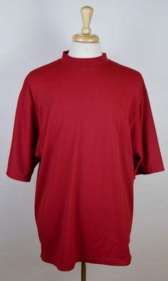 FootJoy Men's Crimson Red Short Sleeve Crewneck Moisture Wicking Golf Shirt XL #FootJoy #ShirtsTops
