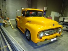 Mellow Yellow 1956 FORD F100 $35950 1956 Ford Truck, 1956 Ford F100, Ford Trucks, Son In Law, Unique Cars, Mellow Yellow, Cars For Sale, Wheels, Vans