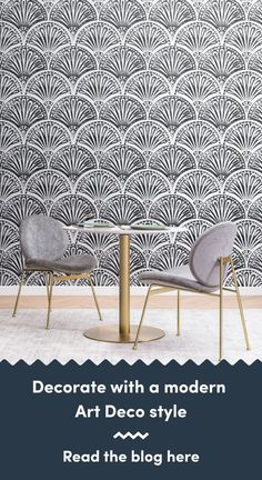 6 Art Deco Wallpapers To Create A Luxurious Interior Art Deco Wallpaper, Modern Wallpaper, Living Room Themes, Black And White Wallpaper, Modern Art Deco, Chrysler Building, Art Deco Design, Luxury Interior, Classic Style