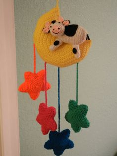Hand Crocheted Mobile Baby's Room от Clickmaster на Etsy, $45.00