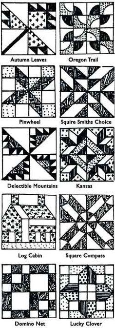 sample quilt blocks