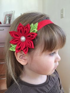 This beautiful custom-made baby kanzashi headband would be perfect for your baby or little girl and would make a wonderful gift. I created this