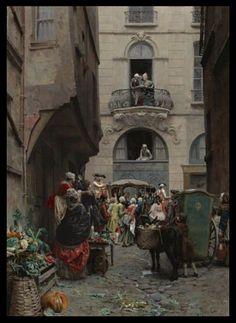 Street view, 18th century