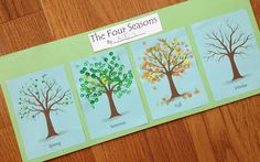 The four seasons - neat seasonal art idea.  Link to printable costs $ but could be adapted...