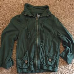 Army Green Zip up Top Green zip up top very comfy 3/4 sleeves Mine Tops Blouses