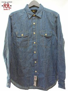 281a1937 FT IMPORT: STDM 2 gusset Hickory stripe shirt - Purchase now to accumulate  reedemable points!