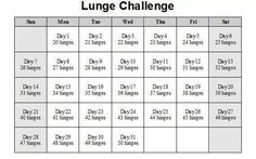 Free Fitness Challenge - REPIN to JOIN or CLICK link below #free #challenge #fitness #lunges