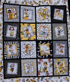 Bee Happy Quilt! Loralie fabric is so fun :)