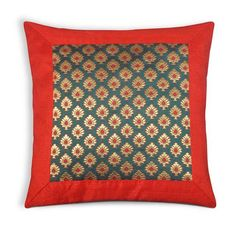 Items similar to Teal and Gold Red Color Block Raw Silk Pillow Cover - Decorative Silk Throw Pillow - Dupioni Silk Cushion Cover on Etsy Cushion Cover Designs, Pillow Cover Design, Diy Pillow Covers, Cushion Covers, Throw Pillows, Owl Pillows, Burlap Pillows, Decorative Pillows, Traditional Cushions