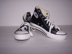 Converse All Star Boys Sneakers 2.5 High Tops Black Lace-ups Worn once #Converse #HighTops