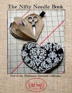 I used a little version of this needle book pinned to my wardrobe apron for years, so Id have a needle loaded and ready for quick repairs. Hand Sewing Projects, Sewing Projects For Beginners, Sewing Crafts, Needle Case, Needle Book, Sewing Hacks, Sewing Tutorials, Sewing Tips, Dress Tutorials