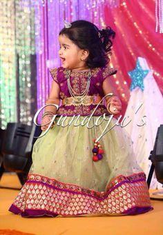 Kids Lehenga Choli Designs For Weddings In 2019 Kids Dress Wear, Kids Gown, Little Girl Dresses, Girls Dresses, Baby Dresses, Baby Lehenga, Kids Lehenga Choli, Anarkali, Saree