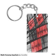 Math frenemy keychain