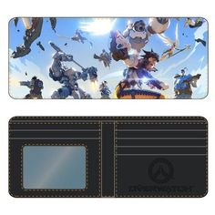 Save your strength... and your money! This Overwatch Sky Battle Wallet features the heroes of Blizzard's shooter taking the battle to the skies! Wallet features sublimated print and measures nearly 4-