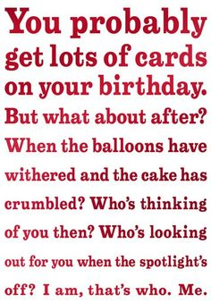 Sensitive and Late Belated Funny Birthday Card