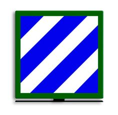 From the Altogether American licensed collection, this 3rd Infantry Division Tabble Top Sign measures 8 inches by 8 inches and weighs in at 1 lb(s). This custom metal shape is hand made in the USA usi