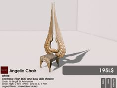 22769 ~ [bauwerk] Angelic Chair available for the Challenge for Builders here: http://maps.secondlife.com/secondlife/Wooden%20Bay/36/124/23