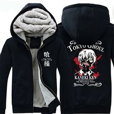 Vicwin-One Tokyo Ghoul Logo Thick Hoodie Costume Cosplay (Size XXL) ** Want additional info? Click on the image.