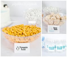 Polar Bears & Penguins Winter Pool Party - Pigskins & Pigtails - Polar Bears & Penguins party foods from Pigskins & Pigtails - Penguin Birthday, Penguin Party, Bear Birthday, 5th Birthday, Polar Bear Party, Polar Bears, Birthday Party Snacks, Birthday Ideas, First Birthday Winter