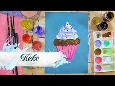 Как нарисовать кексик - урок рисования для детей от 5 лет, рисуем дома поэтапно - YouTube