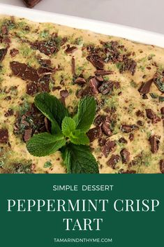 Peppermint Crisp Tart - Tamarind & Thyme - Peppermint Crisp Tart Popular South African dessert made with four simple ingredients. Decadent, fuss-free and no baking required - Apple Crisp Recipes, Tart Recipes, Sweet Recipes, Dessert Recipes, Oven Recipes, Curry Recipes, Pepermint Crisp Tart, Peppermint Crisp, South African Desserts