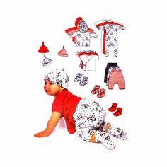 Infants Jacket Top Jumpsuit Pants Booties Hat Butterick 6608 Sewing Pattern