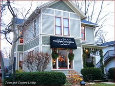 Historic home in Geneva, Illinois...took the train from Chicago to this little town...shops in historic homes...loved