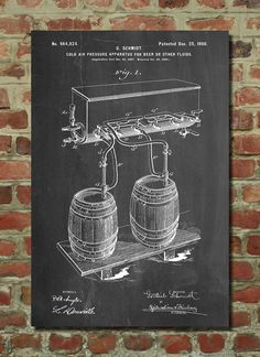 Beer Keg Cold Air Pressure Tap Poster Beer Patent by PatentPrints