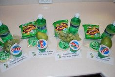 """St patrick's day lunch with a note saying, """"I'm lucky to have you"""""""