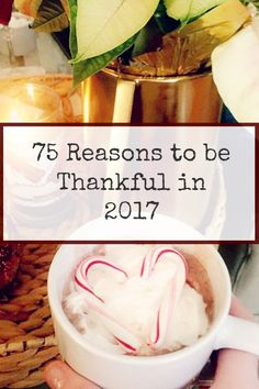 75 Reasons to be Thankful in 2017