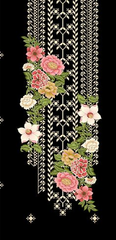 Textile Pattern Design, Textile Patterns, Embroidery Patterns, Hand Embroidery, Print Patterns, Textiles, Embroidery Suits Design, Cute Wallpaper For Phone, Botanical Flowers