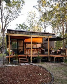 Modern Tiny House, Tiny House Cabin, Tiny House Living, Tiny House Design, Cottage House, Container House Plans, Container House Design, Casas Containers, Shipping Container Homes