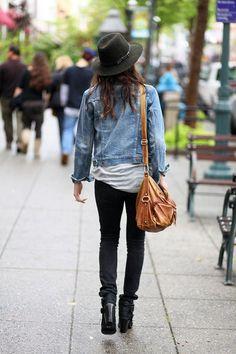 jeans sombrero mezclilla