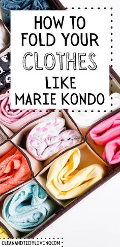 To help out, we want to tell you about Marie Kondo and her folding underwear tips, and all the benefits of keeping a uniformly organized underwear drawer. A huge benefit of the KonMari underwear folding method is being able to see everything at once. How to sort, tidy and organize your clothes in 4 easy steps. Home Organisation Tips, Organization, How To Fold Underwear, How To Organize Your Closet, Marie Kondo, Konmari, Bedroom Inspo, Homemaking, Clean House