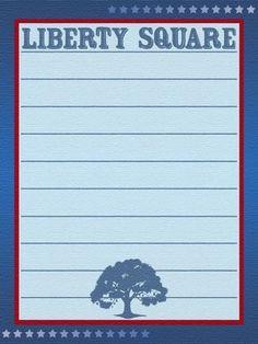 Journal Card - Liberty Square - Magic Kingdom - lines - 3x4 photo pz_692_MK_LibertySquare_lines_3x4.jpg