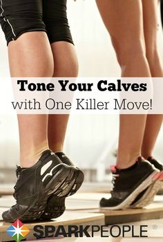 My favorite move for the calves--I was soooo sore after a few rounds of these! | via @SparkPeople #legworkout #fitness #workout #exercise