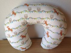 Boppy Cover Woodland Fox and Owl -- Breastfeeding Pillow Slipcover Gender Neutral