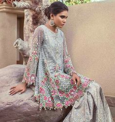 "Annus Abrar Bridal Wear Collection 2017 More: ""Papillon"" Luxury Pret Wear Collection By Rungrez Pakistani Couture, Pakistani Bridal Dresses, Pakistani Outfits, Indian Dresses, Indian Outfits, Pakistani Clothing, Ethnic Fashion, Asian Fashion, Bridal Dresses 2017"