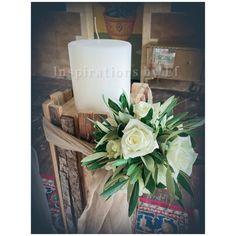 Στολισμός γάμου με ελιά και λευκό τριαντάφυλλο...Wedding decoration...olive & rose.... Κορμοί κ γήινα χρώματα... weddind decoration details...λαμπάδες γάμου κορμοί... Pillar Candles, Diy Wedding, Table Decorations, Furniture, Home Decor, Decoration Home, Room Decor, Home Furnishings, Home Interior Design