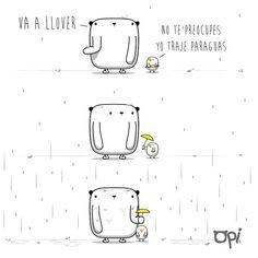 Va a llover… #opi #cute #kawaii #ilustración #dibujo