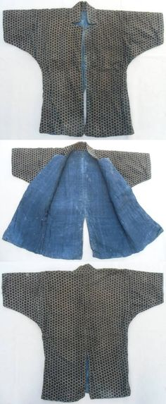 Japanese kikko katabira, Edo Period, an armored jacket made with small hexagon metal or rawhide plates sewn between layers of cloth.