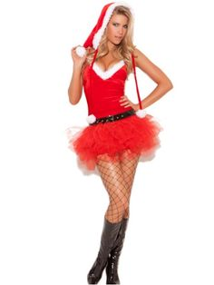 Costume-Christmas: Santa's Sweetie - 3 pc Costume includes tutu dress, belt and Santa hat Red - Fabric/Material: Polyester, Spandex Santa's Sweetie - 3 pc. Costume includes tutu dress, belt and Santa hat. Costumes For Sale, Sexy Halloween Costumes, Christmas Costumes, Costumes For Women, Santa Costumes, Adult Halloween, Dress Hats, Costume Dress, Red Costume