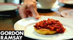 Homemade Spicy Baked Beans with Potato Cakes | Gordon Ramsay  http://www.dailymail.co.uk/home/you/article-2425044/Food-special-Home-baked-beans-potato-cakes.html