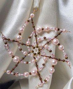 Bead Star Snowflake Ornament