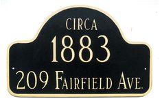 Montague Metals - Montague Historical Arch Address Plaque