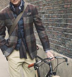Plaid Wool Blazer by Hackett London