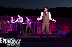 Steve Mazurek leading a smooth medley of crooner selections in Transcendence Theatre Company's Broadway Under The Stars in Jack London State Park - Sonoma, Napa, Wine Country. http://www.transcendencetheatre.org/ Photo By Robbi Pengelly